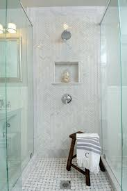 try this herringbone marble tile a beautiful mess marble