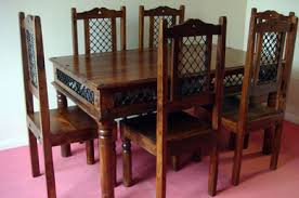 Jali Dining Table And Chairs Thakat Jali Dining Set Sheesham Dining Set India Dining Set