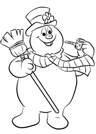 frosty snowman coloring pages free coloring pages