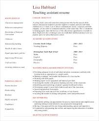 cv templates for teaching assistants teacher resume sle 28 free word pdf documents download free