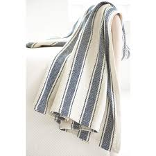 Awning Colors Blue Awning Stripe Woven Cotton Throw Dash U0026 Albert