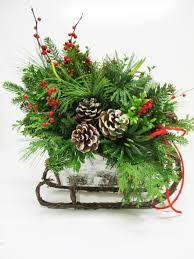 christmas arrangements assorted greenery arrangements xmas