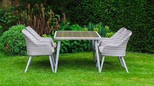 patio dining table and chairs san pedro poly rattan 160 cm sunflower round garden patio dining
