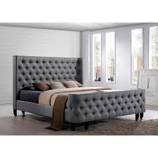 King Size Tufted Headboard Luxury Tufted Upholstered Headboard And Footboard 12 For Your King
