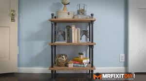 Bookcase Diy by Diy Industrial Pipe Book Shelf Youtube