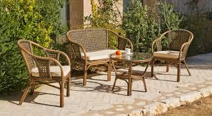 canap osier rotin 2 places salon phuket 1 canapé 2 fauteuils 1 table sur ensemble salon
