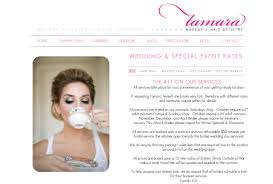 bridal hair prices tamara makeup hair artistry w 411