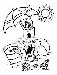free summer coloring pages coloring page sand castle coloring page for kids summer sunny