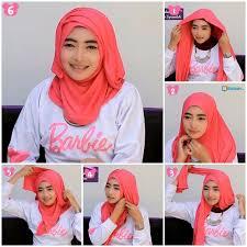 tutorial hijab pashmina kaos yang simple tutorial jilbab pashmina kaos yang praktis hanya 1 menit diary id