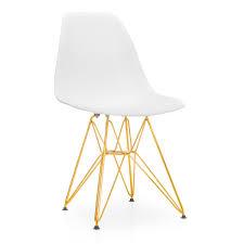 chaise dorée chaise tower blanche avec pieds doré brillant chaises icônes du