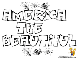 free kids 4 july coloring sheets america beautiful quote