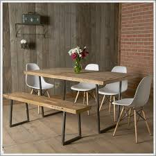 reclaimed wood dining table with bench with inspiration picture