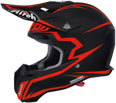 airoh motocross helmet airoh terminator 2 1 fit motocross helmet black matt orange