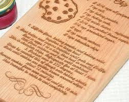 cutting board with recipe engraved personalized handwritten recipe cutting board custom engraved