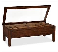 cart coffee tables pottery barn trunk table 11090p thippo