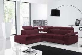 canapé cuir prune prune