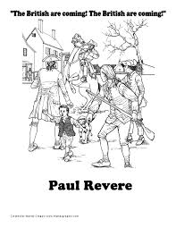 paul revere coloring page crayola com usa printables contential