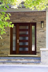 Modern Exterior Doors by The Many Uses Of Rain Glass Front Doors Doors And Glass