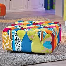 pouf bout de canapé pouf assise siège tabouret bout de canapé design patschwork