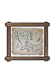 Leather Map Lord Of The Rings Leather Map The Hobbit Map Tolkien Map