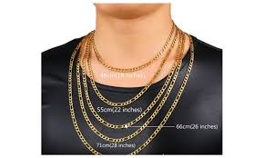 mens figaro chain necklace images Up to 65 off on stainless steel figaro chain groupon goods jpg