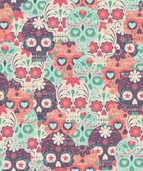 skull wrapping paper pastel sugar skull by the bunch large fabric pink ink spoonflower