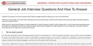most questions in job interview interview questions u0026 answers for graduate jobs pdf naira bookstore