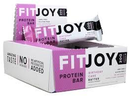 buy fitjoy nutrition protein bar birthday cake batter 12 bars