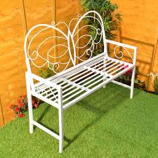 butterfly garden bench metal patio furniture seat outdoor