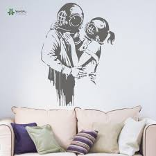 yoyoyu wall decal teenagers bedroom decoration banksy love deep yoyoyu wall decal teenagers bedroom decoration banksy love deep divers hallway wall art self adhesive film yo134 in wall stickers from home garden on