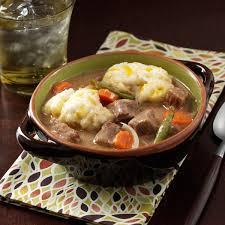beef stew with cheddar dumplings recipe taste of home
