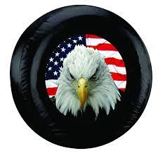 Eagles Flag Eagle Flag Spare Tire Cover