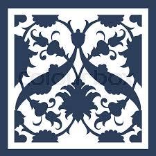 laser cut floral arabesque ornament pattern vector template