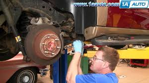 how to install repair replace rear disc brakes chevy trailblazer