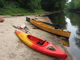 phil and his quick canoe touring in a simple plywood canoe