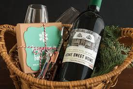 housewarming basket winter diy housewarming basket gift favor ideas from evermine