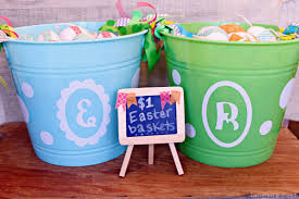 personalized easter buckets tattered and inked dollar store personalized easter baskets
