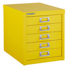 Cute Cabinet Bisley Yellow 5 Drawer Cabinet The Container Store