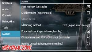 best ppsspp setting dissidia doudecim 012 final fantasy gold v