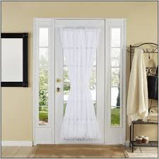 Front Door Window Curtain Front Door Curtains Do This To Your Front Door To Make It Look So