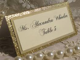 gold glitter tented place cards set of 50 name cards escort cards