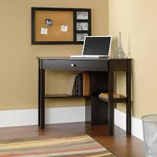 Corner Desk Sauder Beginnings Corner Computer Desk Cinnamon Cherry Walmart