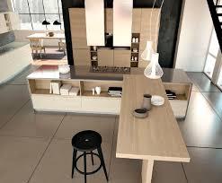 ilot cuisine bois massif cuisine contemporaine en bois massif en bois avec îlot tesi
