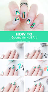edgy geometric nail art tutorial