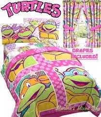 Ninja Turtle Comforter Set Girls Teenage Mutant Ninja Turtles Pink Twin Full Size Comforter