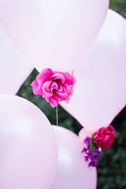 flowers and balloons diy flower balloons design improvised