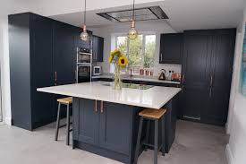 navy blue kitchen cabinets howdens navy blue kitchen renovation in guildford southside