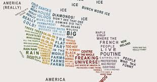 map of canada by province this hilarious map describes canada s stereotypes by province and