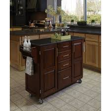 Home Styles Kitchen Islands Create A Cart Cherry Finish Black Granite Top Homestyles
