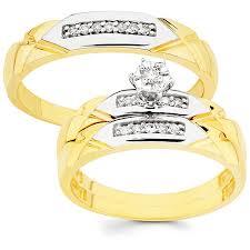 wedding rings size 11 10k gold 1 10ct tdw his and wedding ring set h i i1 ladie s